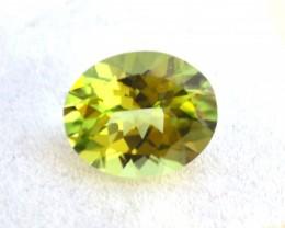 3.55 Carat Peridot -- Fantastic Oval Cut Stone