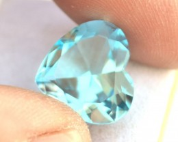 10.16 Carat Topaz -- Great Heart Shaped Sky Blue Topaz