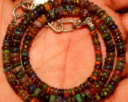47 Crt Natural Ethiopian Fire black smoked Opal beads 39