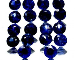 Certified 18 X Blue Sapphires TCW 2.86
