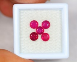 2.66ct Ruby Round Cut Mix Size Lot GW2538