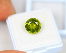 5.44Ct Green Peridot Round Cut Lot LZB453