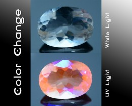Certified 2.75 ct Analcime aka Analcite Extreme rare Fluorescent Afg SKU 1