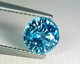 """2.08 ct """" Top Quality Gem"""" Excellent Round cut Top Luster Blue Zi"""
