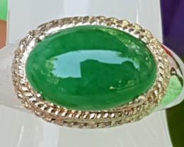 3.15cts, Burmese Jade,   Pure Green,  Good Translucency