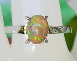 Opal In Silver Ring