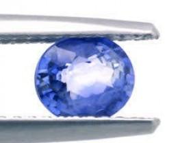 Certified Natural  Ceylon Sapphire 0.84ct.
