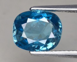 3.76 Cts Blue Zircon Awesome Color ~ Cambodia ZR14