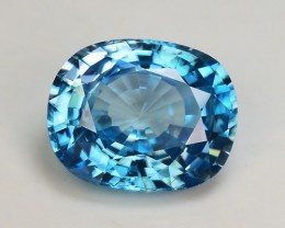 6.94 Cts Blue Zircon Awesome Color ~ Cambodia ZR18
