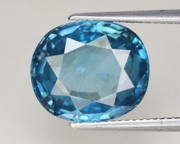 10.56 Cts Blue Zircon Awesome Color ~ Cambodia ZR20