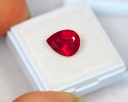 3.87Ct Ruby Composite Pear Cut Lot A434