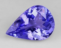 1.75 Cts Tanzanite Faceted Gemstone Awesome Color & Cut TN13