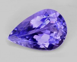 1.72 Cts Tanzanite Faceted Gemstone Awesome Color & Cut TN14