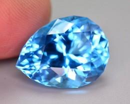 15.95 Ct Natural Fancy Pear Shape Blue Topaz Gemstone