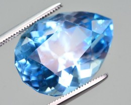 16.25 Ct Natural Fancy Pear Shape Blue Topaz Gemstone
