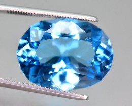 19.05 Ct Natural Fancy Oval Shape Blue Topaz Gemstone