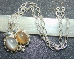 Moonstone ~pair  pendent necklace  ~ oval silver 98.5 designs 112.50cts