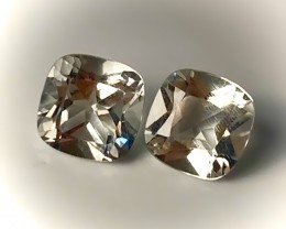 Stunning Green Amethyst Pair  (Prasiolite) - NO RESERVE AUCTION