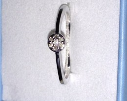 Silver Ring With 5 Diamonds