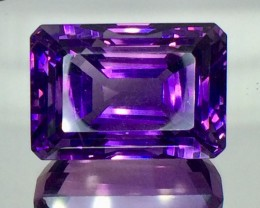 50.95. Crt Natural Amethyst Beautifulest Faceted Gemstone.( AT 01)