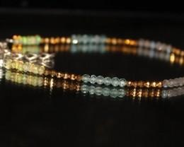 Natural Ethiopian opal pyrite apatite labradorite beads bracelet 14