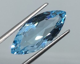 8.27 Carat VVS Topaz Swiss Blue Marque - Brazilian Beauty !