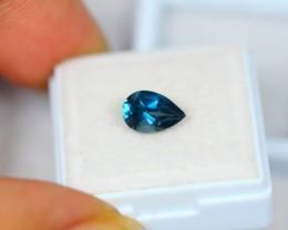 1.69ct London Blue Topaz Pear Cut Lot W08