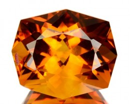 ~EXCELLENT~ 6.29 Cts Natural AAA Golden Orange Citrine Fancy Brazil