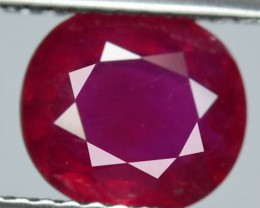 2.19Cts Pigeon Blood red Ruby Composite Oval Cut Mozambique