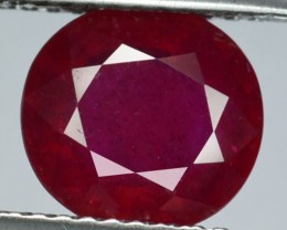 2.95Cts Pigeon Blood red Ruby Composite Oval Cut Mozambique