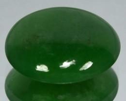 3.13Cts natural Green Jade Cabochon Burmese Gem