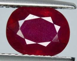 2.54Cts Pigeon Blood red Ruby Composite Oval Cut Mozambique