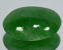 2.39Cts Natural Green Jade Cabochon Burmese Gem