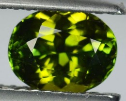 1.40 Cts Natural Green Tourmaline Oval Mozambique Gem