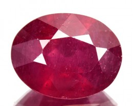 3.68Cts Pigeon Blood red Ruby Composite Oval Cut Mozambique