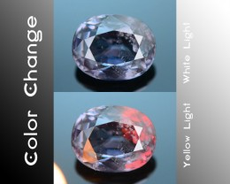 Rarest Blue Garnet 1.42 ct Dramatic Full Color Change SKU-3