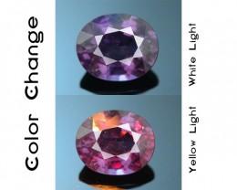 Rarest Garnet 1.73 ct Dramatic Full Color Change SKU-3
