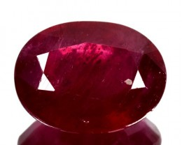4.52Cts Pigeon Blood red Ruby Composite Oval Cut Mozambique