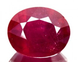 3.81Cts Pigeon Blood red Ruby Composite Oval Cut Mozambique