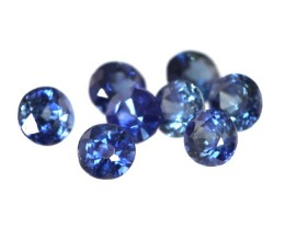 0.68cts Natural Matching Round Blue Sapphire
