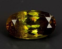 0.80Crt Chrome Sphene  Best Grade Gemstones JI111