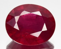 3.96 Cts Pigeon Blood red Ruby Composite Oval Cut Mozambique