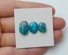 10ct Natural rare gemstone turquoise cabochon beads semi-precious stones je