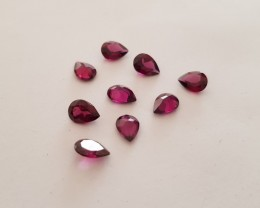 7.25 cts Purple garnet parcel 9 pieces #G0057
