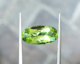 3.35 Ct Natural Green Transparent Peridot Loose Gem