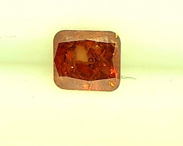 0.14ct RED-ORANGE  Diamond , 100% Natural Untreated