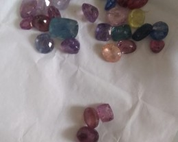 123cts Natural Corundum Parcel , Untreated Gemstones