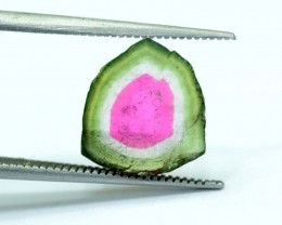 3.35 cts Watermelon Tourmaline Slice from Paprok