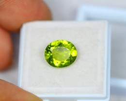 3.44ct Green Peridot Oval Cut Lot GW2569