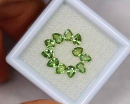 1.95ct Green Sapphire Pear Cut Lot GW2572
